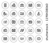 photographing icon set.... | Shutterstock .eps vector #1198438060