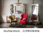 bright loft style room with a... | Shutterstock . vector #1198438306