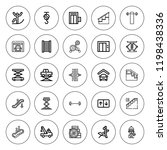 lift icon set. collection of 25 ... | Shutterstock .eps vector #1198438336