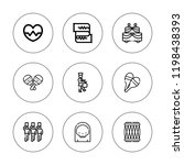 rhythm icon set. collection of... | Shutterstock .eps vector #1198438393