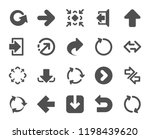 arrows icons. set of download...   Shutterstock .eps vector #1198439620