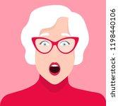 portrait of an elderly woman...   Shutterstock .eps vector #1198440106