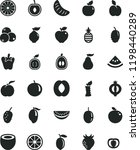 solid black flat icon set peper ... | Shutterstock .eps vector #1198440289