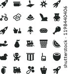 solid black flat icon set... | Shutterstock .eps vector #1198440406