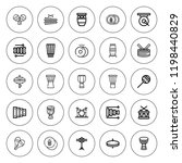 percussion icon set. collection ... | Shutterstock .eps vector #1198440829
