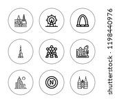 skyline icon set. collection of ... | Shutterstock .eps vector #1198440976