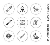 kebab icon set. collection of 9 ... | Shutterstock .eps vector #1198441003