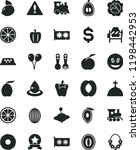 solid black flat icon set... | Shutterstock .eps vector #1198442953