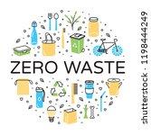 zero waste logo design template ... | Shutterstock .eps vector #1198444249