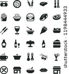 solid black flat icon set... | Shutterstock .eps vector #1198444933
