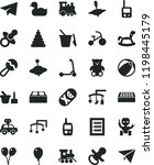 solid black flat icon set paper ... | Shutterstock .eps vector #1198445179