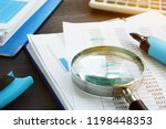 bookkeeping and audit.... | Shutterstock . vector #1198448353