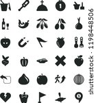 solid black flat icon set wind... | Shutterstock .eps vector #1198448506