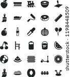 solid black flat icon set... | Shutterstock .eps vector #1198448509