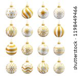 White And Gold Christmas Balls...
