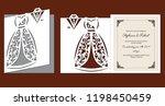 laser cut template of wedding... | Shutterstock .eps vector #1198450459