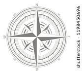 vector icon with compass rose... | Shutterstock .eps vector #1198450696