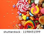 candies with jelly and sugar.... | Shutterstock . vector #1198451599
