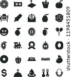 solid black flat icon set... | Shutterstock .eps vector #1198451809