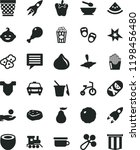 solid black flat icon set image ... | Shutterstock .eps vector #1198456480