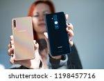 riga  october 2018   recently... | Shutterstock . vector #1198457716