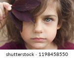 autumn portrait of a little... | Shutterstock . vector #1198458550