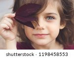 autumn portrait of a little... | Shutterstock . vector #1198458553