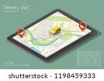city map navigation route ... | Shutterstock .eps vector #1198459333