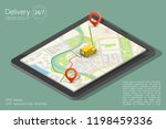 city map navigation route ... | Shutterstock .eps vector #1198459336