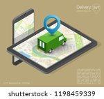 city map navigation route ...   Shutterstock .eps vector #1198459339