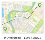 city map navigation route ... | Shutterstock .eps vector #1198460023