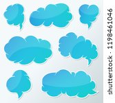 vector stickers thought  speech ... | Shutterstock .eps vector #1198461046