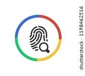 search biometircs   app icon | Shutterstock .eps vector #1198462516