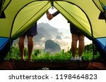 man and women in the nature | Shutterstock . vector #1198464823