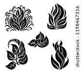 vector set of leafs design... | Shutterstock .eps vector #1198467316