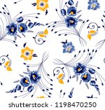 flowers pattern bunch of... | Shutterstock .eps vector #1198470250