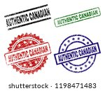 authentic canadian seal prints... | Shutterstock .eps vector #1198471483