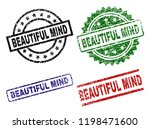 beautiful mind seal prints with ... | Shutterstock .eps vector #1198471600