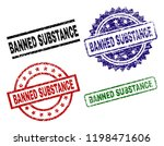 banned substance seal prints... | Shutterstock .eps vector #1198471606