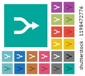 merge arrows multi colored flat ... | Shutterstock .eps vector #1198472776