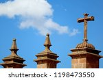 the cross and decorated details ... | Shutterstock . vector #1198473550