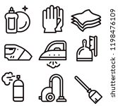 purity cleaning icon set vector | Shutterstock .eps vector #1198476109