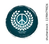 international peace day emblem... | Shutterstock .eps vector #1198479826