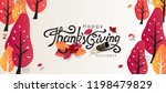 thanksgiving day banner... | Shutterstock .eps vector #1198479829