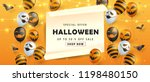 happy halloween banners party... | Shutterstock .eps vector #1198480150