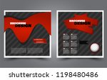 square flyer template. simple... | Shutterstock .eps vector #1198480486