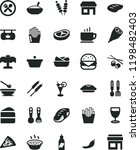 solid black flat icon set... | Shutterstock .eps vector #1198482403