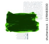 green brush stroke and texture. ...   Shutterstock .eps vector #1198483030
