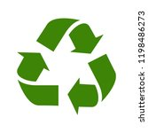 recycle vector icon. style is... | Shutterstock .eps vector #1198486273