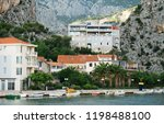 promenade with boats and... | Shutterstock . vector #1198488100